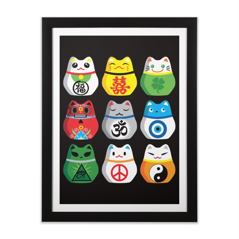 Maneki Nekos Home Framed Fine Art Print by yinyangwest's Artist Shop