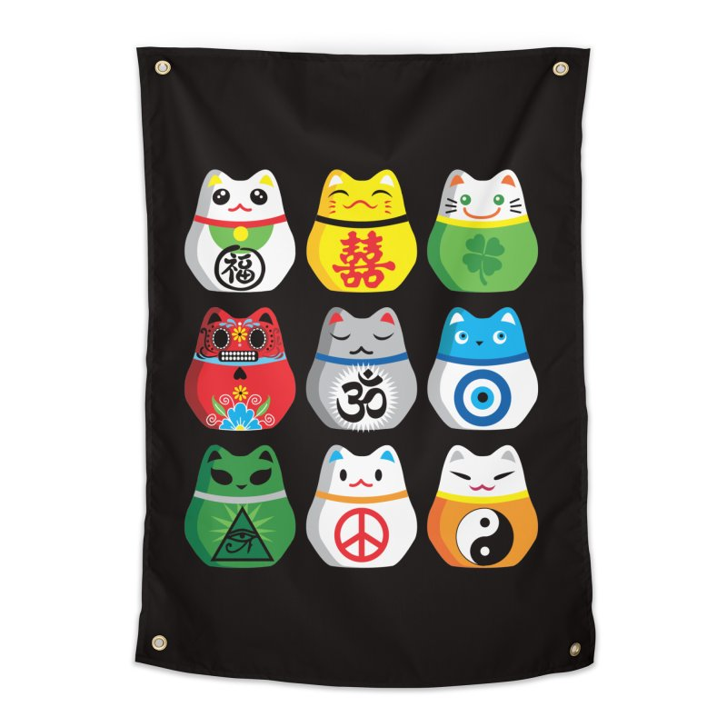 Maneki Nekos Home Tapestry by yinyangwest's Artist Shop