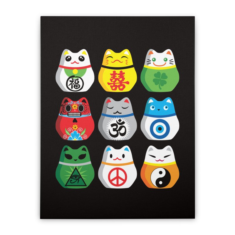 Maneki Nekos Home Stretched Canvas by yinyangwest's Artist Shop