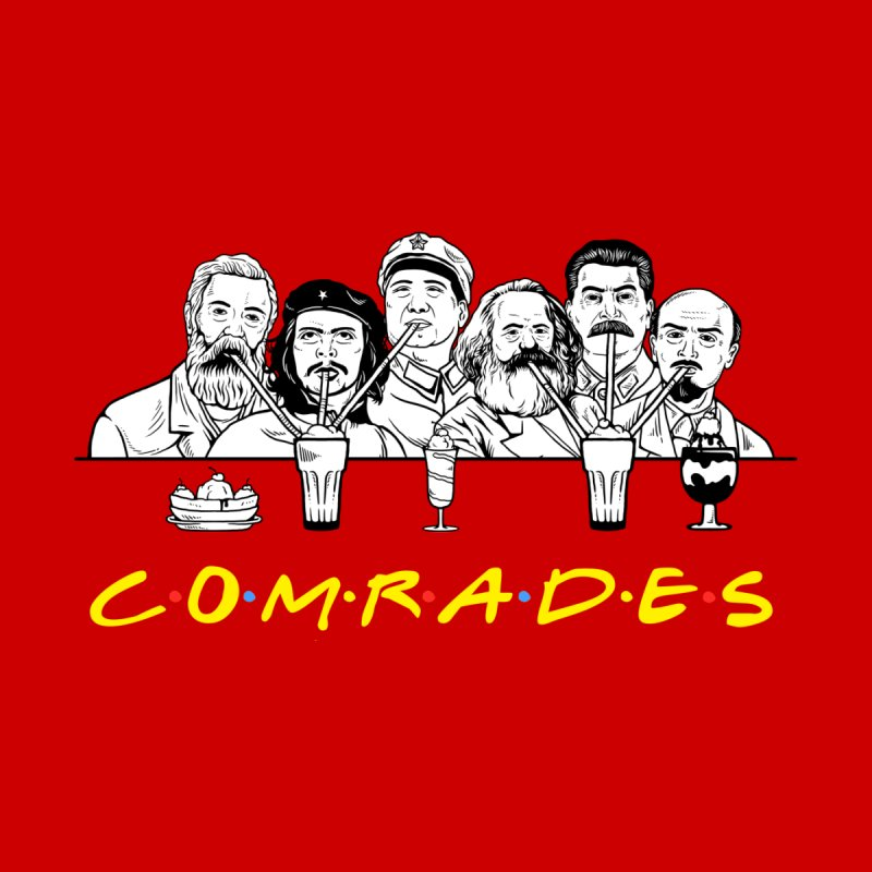 Communist Friends Comrades Men's T-Shirt by Yipptee
