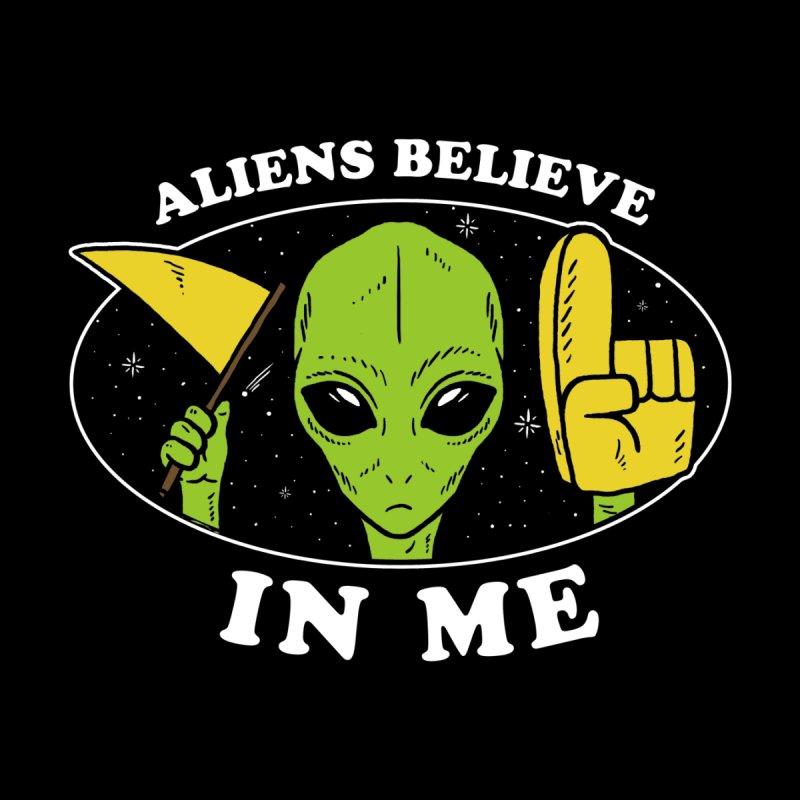 Aliens Believe In Me Men's T-Shirt by Yipptee