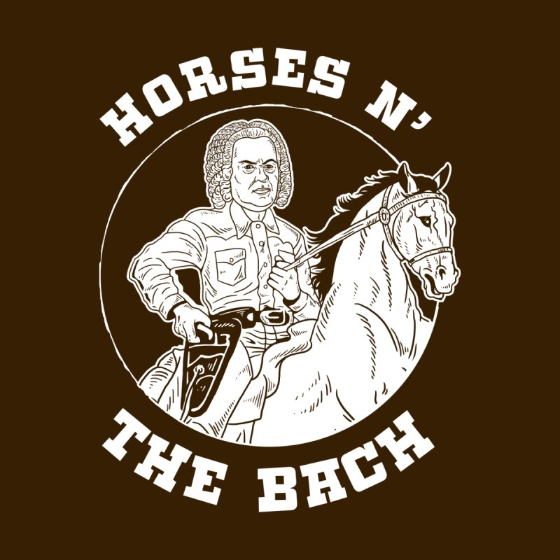 Horses N The Bach Men's T-Shirt by Yipptee