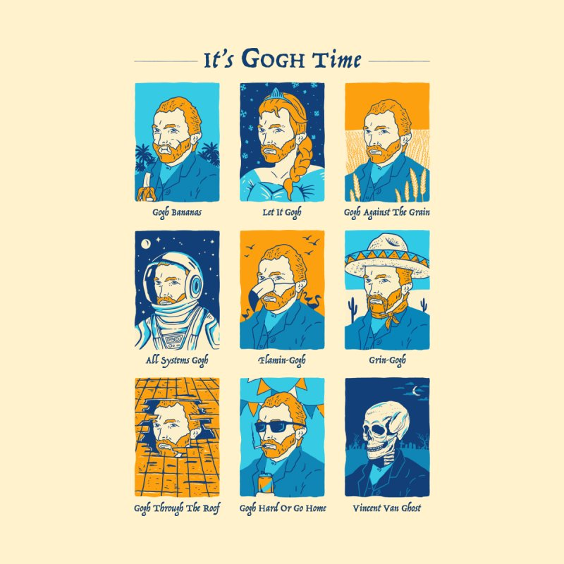 It's Gogh Time Men's T-Shirt by Yipptee