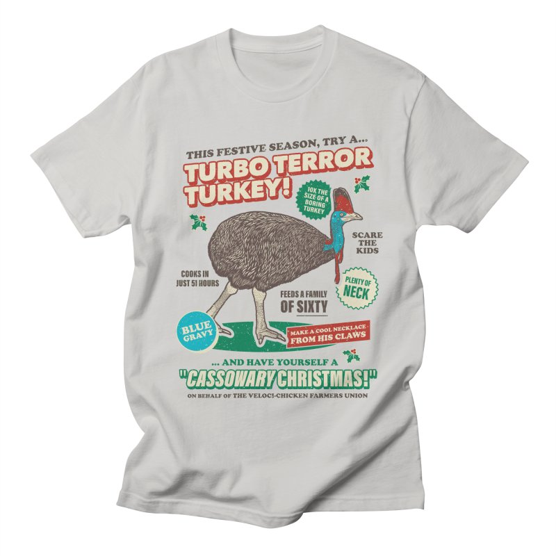 Cassowary Christmas - Turbo Terror Turkey Men's T-Shirt by Yipptee