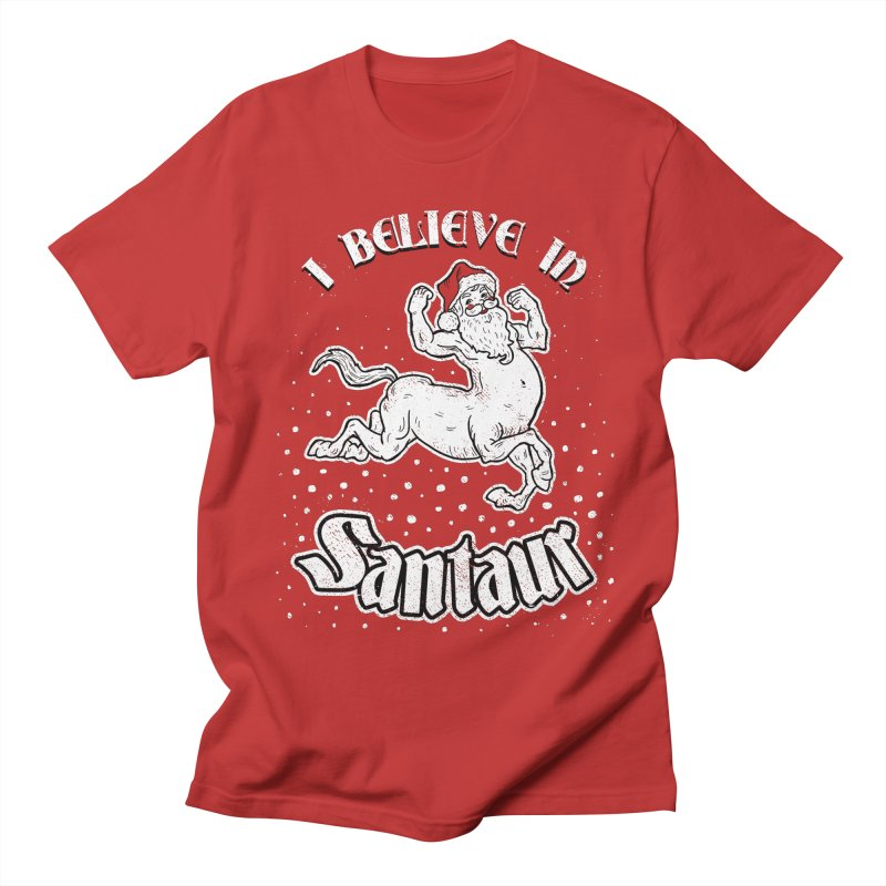 I Believe In Santaur Men's T-Shirt by Yipptee