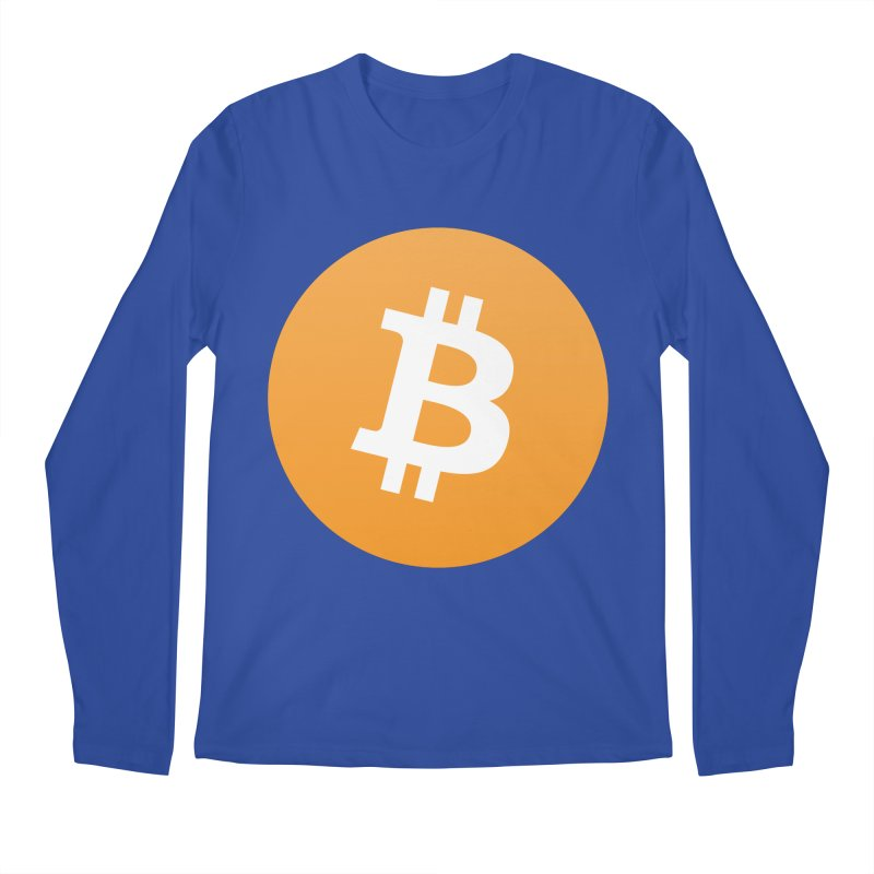 Need I Say More? (Simple Bitcoin Logo) Men's Regular Longsleeve T-Shirt by The YMB Bitcoin Galore