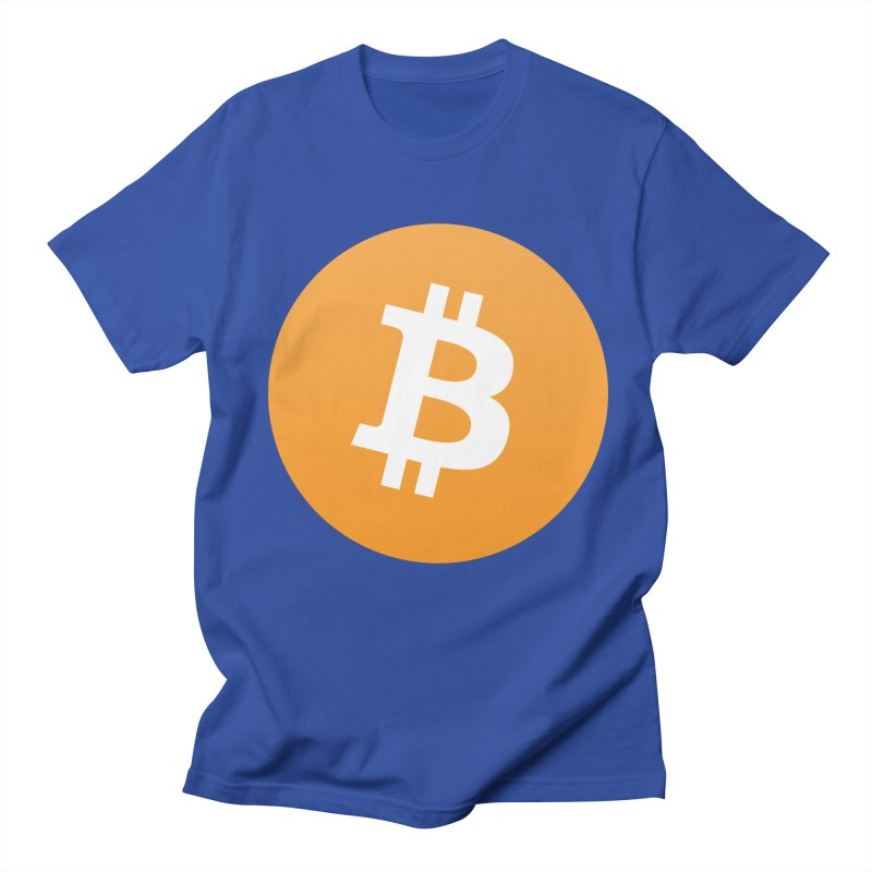 Need I Say More? (Simple Bitcoin Logo) in Men's Regular T-Shirt Royal Blue by The YMB Bitcoin Galore