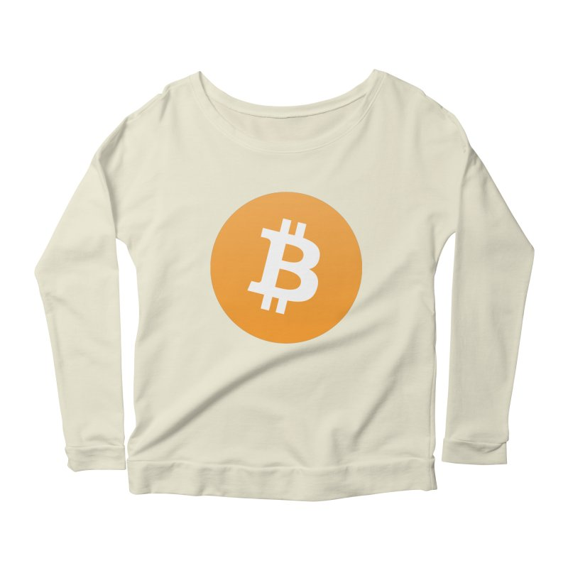 Need I Say More? (Simple Bitcoin Logo) Women's Scoop Neck Longsleeve T-Shirt by The YMB Bitcoin Galore