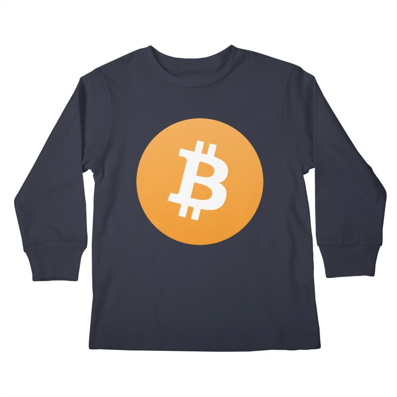 Need I Say More? (Simple Bitcoin Logo) Kids Longsleeve T-Shirt by The YMB Bitcoin Galore
