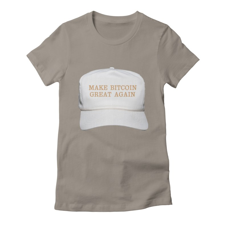 Make Bitcoin Great Again Women's Fitted T-Shirt by The YMB Bitcoin Galore