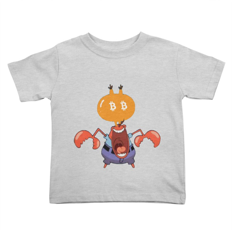 I Smell Bitcoin! in Kids Toddler T-Shirt Heather Grey by The YMB Bitcoin Galore
