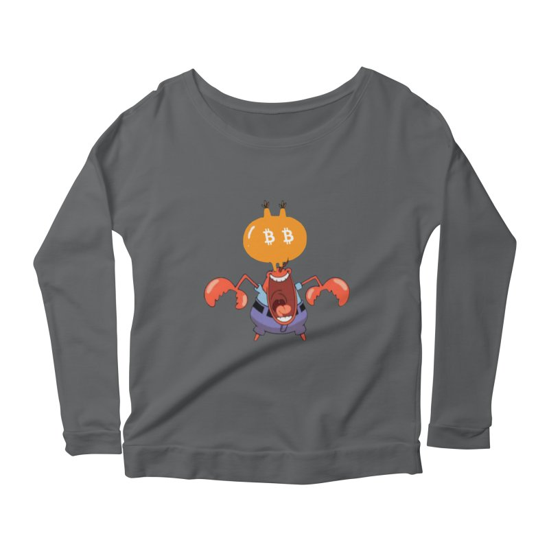 I Smell Bitcoin! Women's Scoop Neck Longsleeve T-Shirt by The YMB Bitcoin Galore