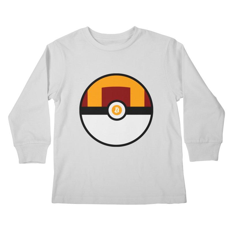 Bitcoin Ultra Ball Kids Longsleeve T-Shirt by The YMB Bitcoin Galore