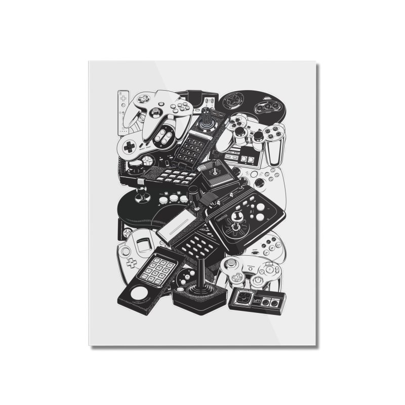 Retrogaming Home Mounted Acrylic Print by ym graphix's Artist Shop