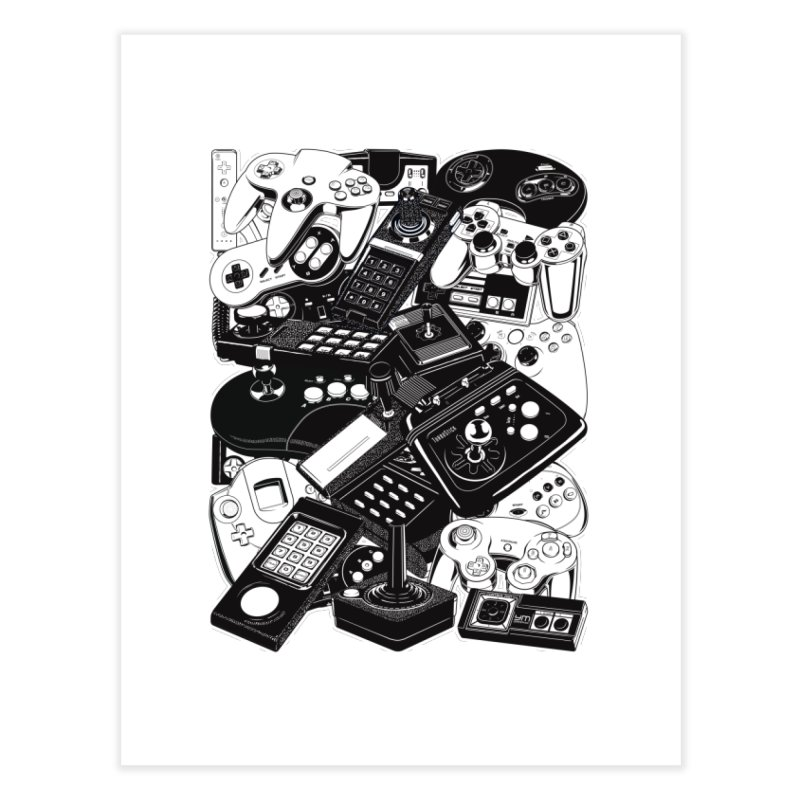 Retrogaming Home Fine Art Print by ym graphix's Artist Shop