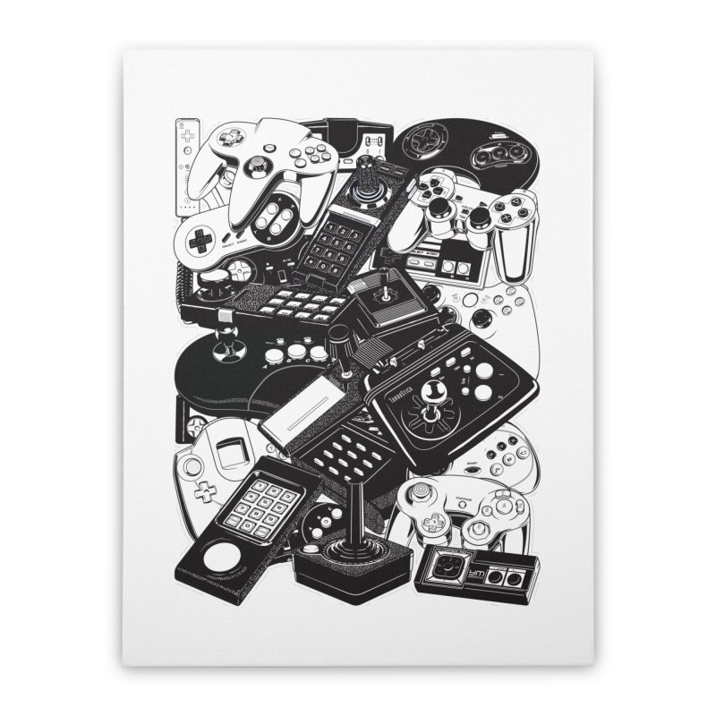Retrogaming Home Stretched Canvas by ym graphix's Artist Shop