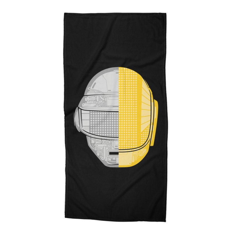Daft Punk Anatomy Accessories Beach Towel by ym graphix's Artist Shop