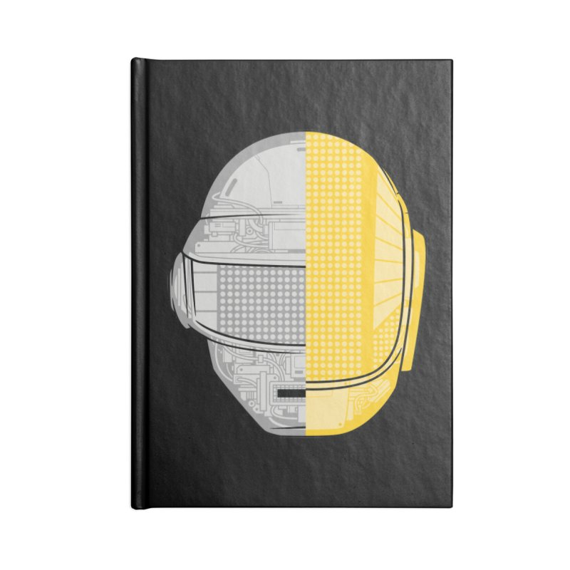 Daft Punk Anatomy Accessories Lined Journal Notebook by ym graphix's Artist Shop