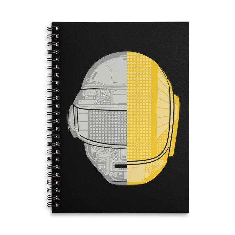 Daft Punk Anatomy Accessories Lined Spiral Notebook by ym graphix's Artist Shop