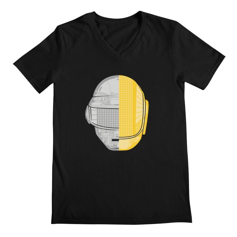 Daft Punk Anatomy Men's Regular V-Neck by ym graphix's Artist Shop