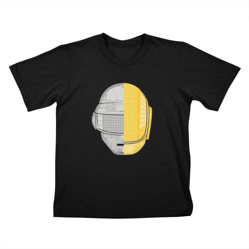 Daft Punk Anatomy Kids T-Shirt by ym graphix's Artist Shop