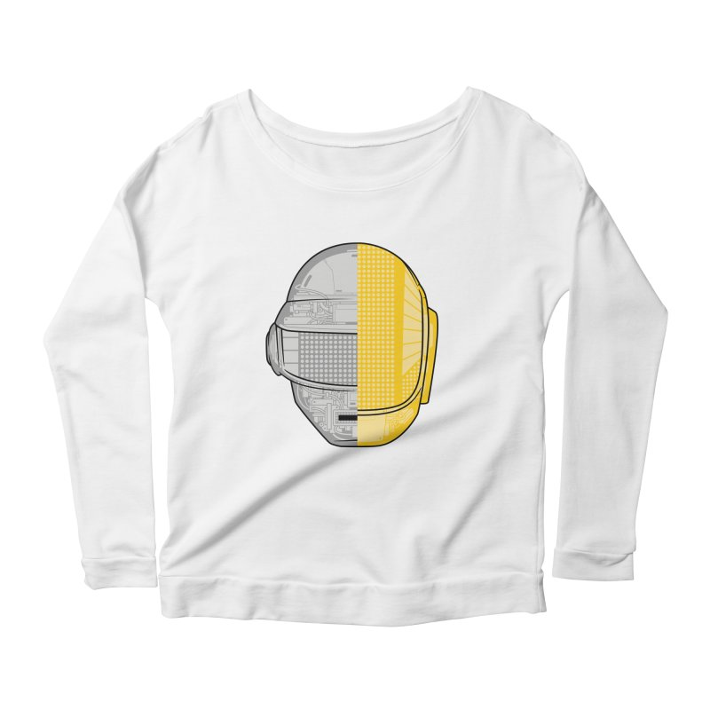 Daft Punk Anatomy Women's Scoop Neck Longsleeve T-Shirt by ym graphix's Artist Shop