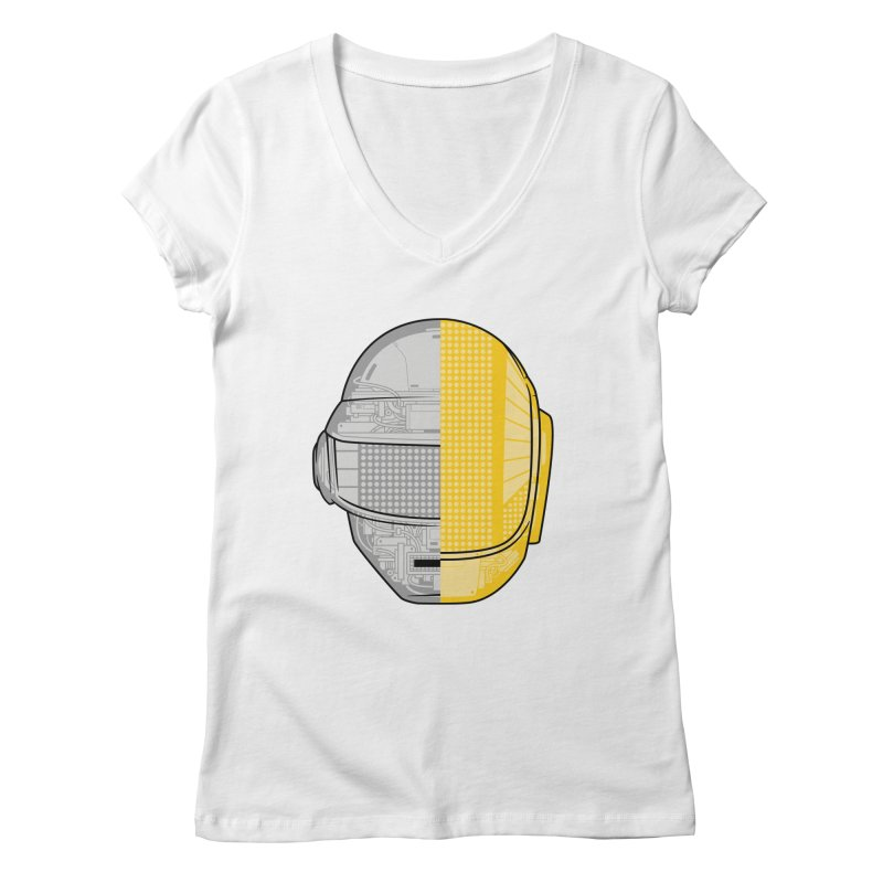 Daft Punk Anatomy Women's V-Neck by ym graphix's Artist Shop