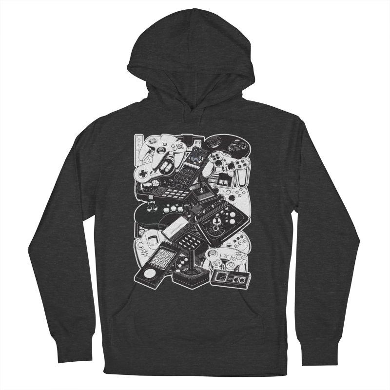 Joysticks & Controllers Men's Pullover Hoody by ym graphix's Artist Shop