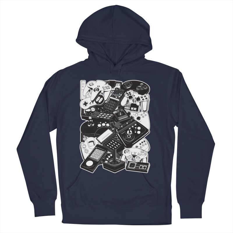 Joysticks & Controllers Men's Pullover Hoody by ym graphix's Artist Shop