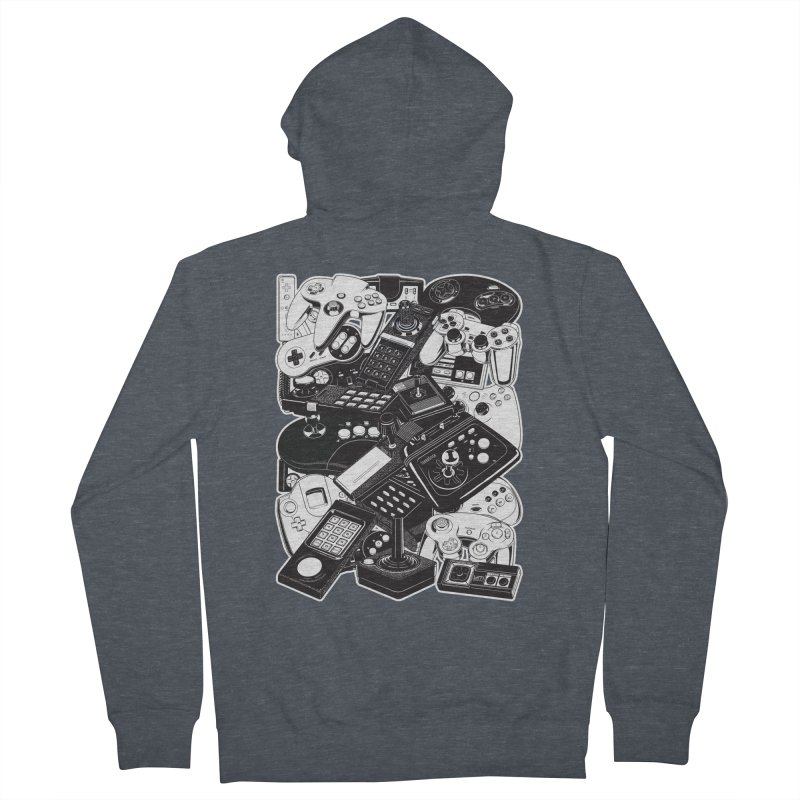 Joysticks & Controllers Men's Zip-Up Hoody by ym graphix's Artist Shop