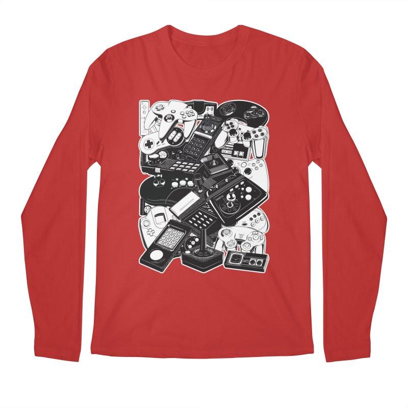 Joysticks & Controllers Men's Longsleeve T-Shirt by ym graphix's Artist Shop