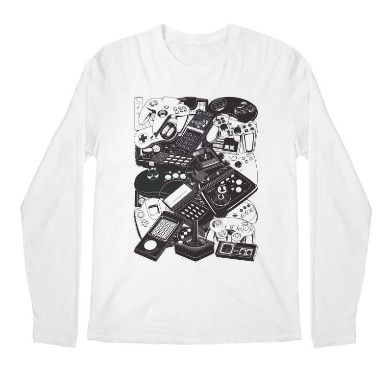 Joysticks & Controllers Men's Longsleeve T-Shirt by ym graphix's Artist Shop