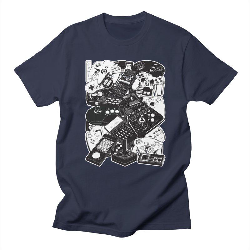 Joysticks & Controllers Men's T-shirt by ym graphix's Artist Shop
