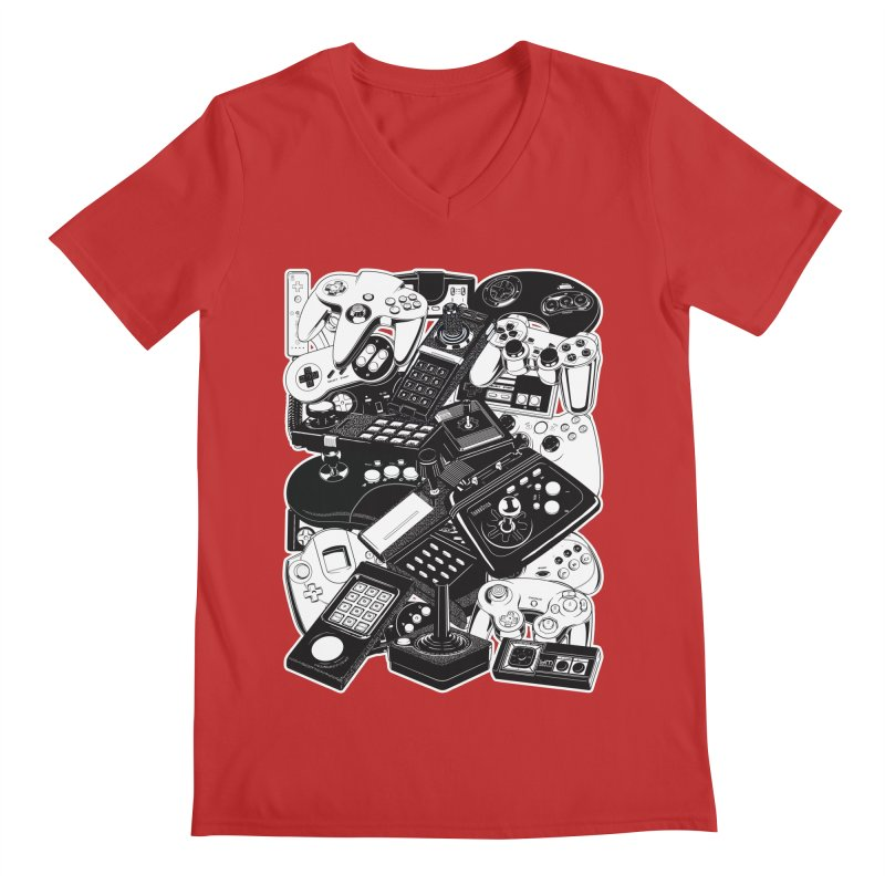 Joysticks & Controllers Men's V-Neck by ym graphix's Artist Shop