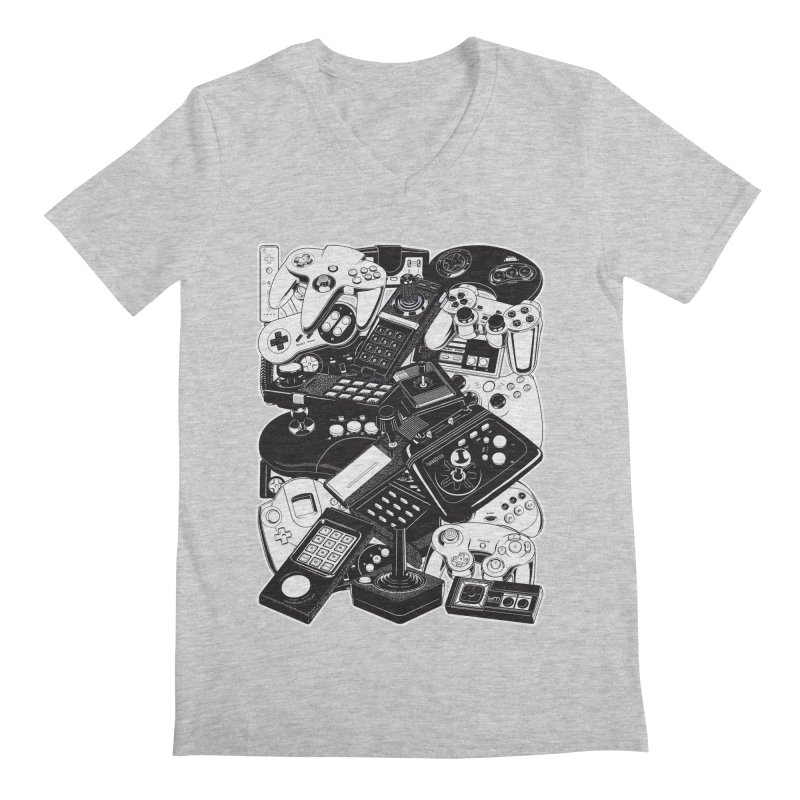 Joysticks & Controllers Men's V-Neck by ym graphix's Artist Shop