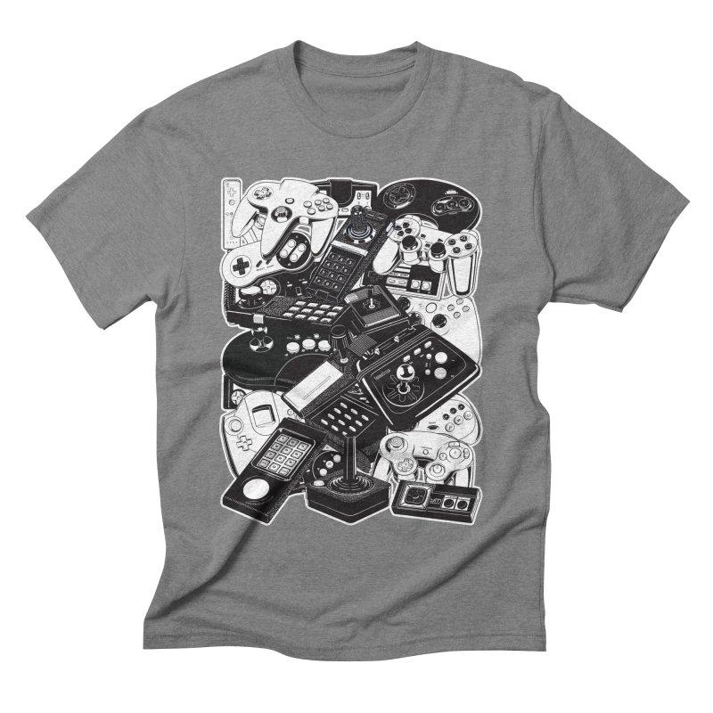 Joysticks & Controllers Men's Triblend T-shirt by ym graphix's Artist Shop