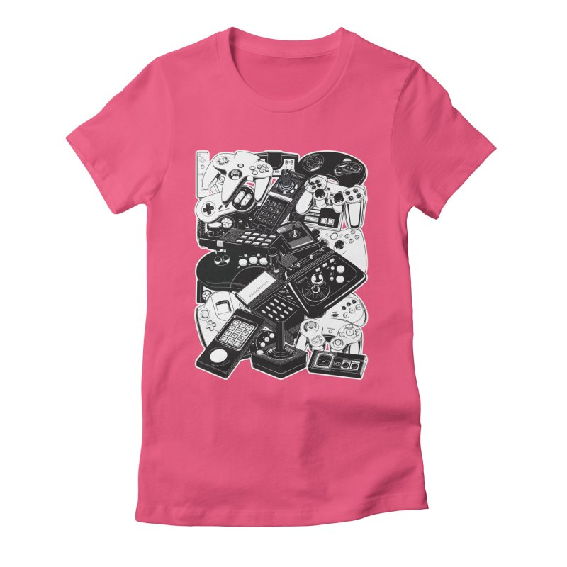 Joysticks & Controllers Women's Fitted T-Shirt by ym graphix's Artist Shop