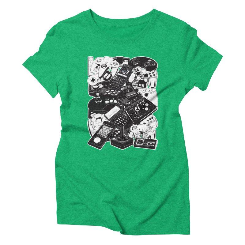 Joysticks & Controllers Women's Triblend T-shirt by ym graphix's Artist Shop