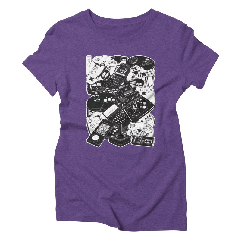 Joysticks & Controllers Women's Triblend T-Shirt by ym graphix's Artist Shop