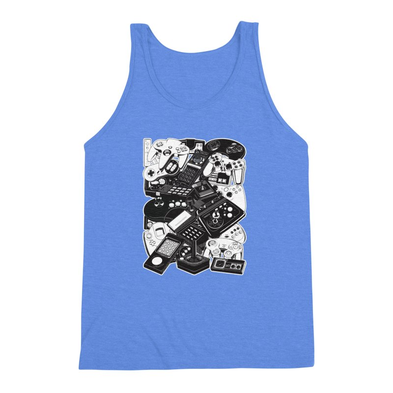 Joysticks & Controllers Men's Triblend Tank by ym graphix's Artist Shop
