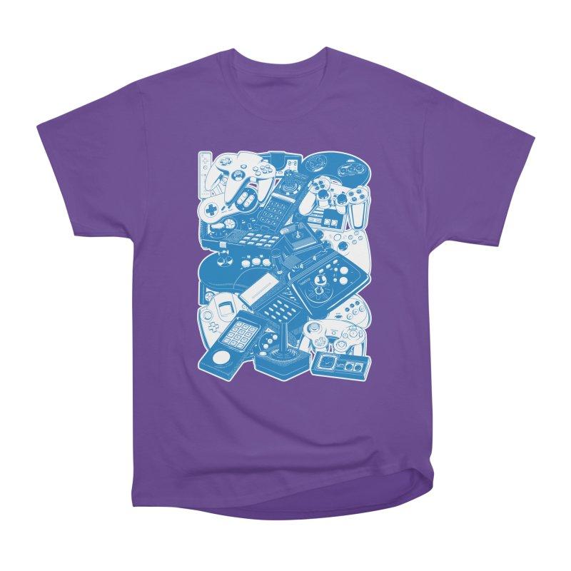 Joysticks & Controllers (blue) Women's Classic Unisex T-Shirt by ym graphix's Artist Shop