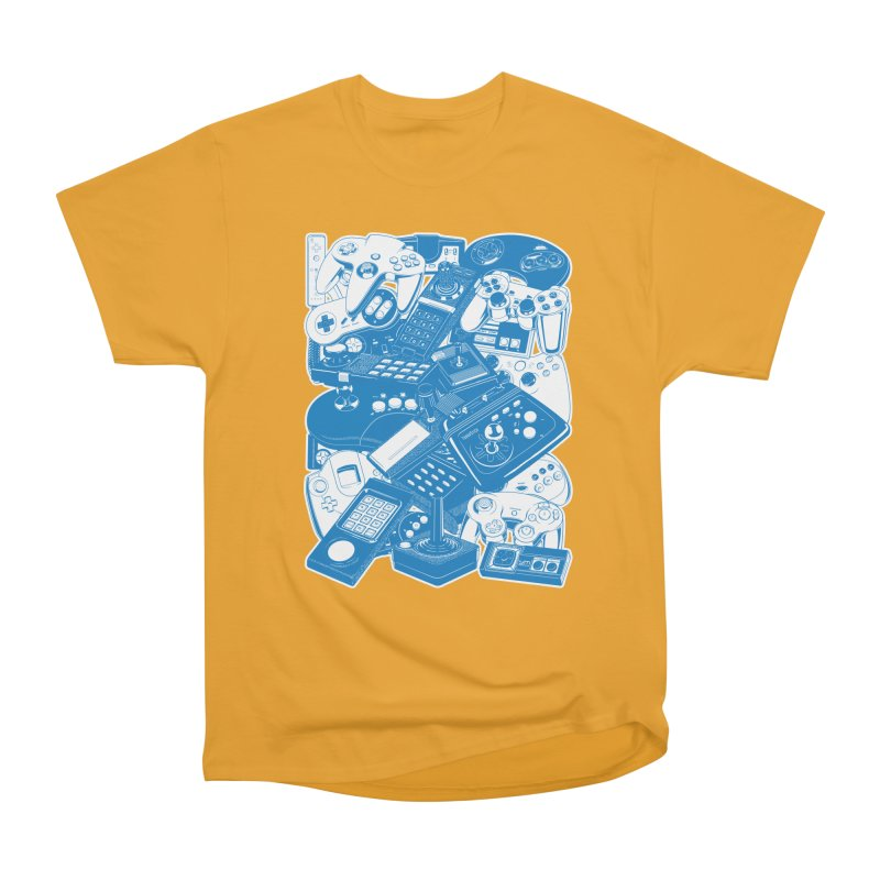 Joysticks & Controllers (blue) Men's Classic T-Shirt by ym graphix's Artist Shop