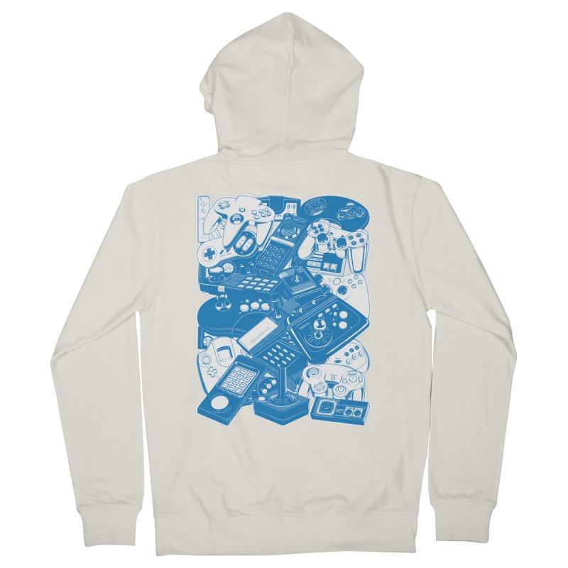 Joysticks & Controllers (blue) Women's Zip-Up Hoody by ym graphix's Artist Shop