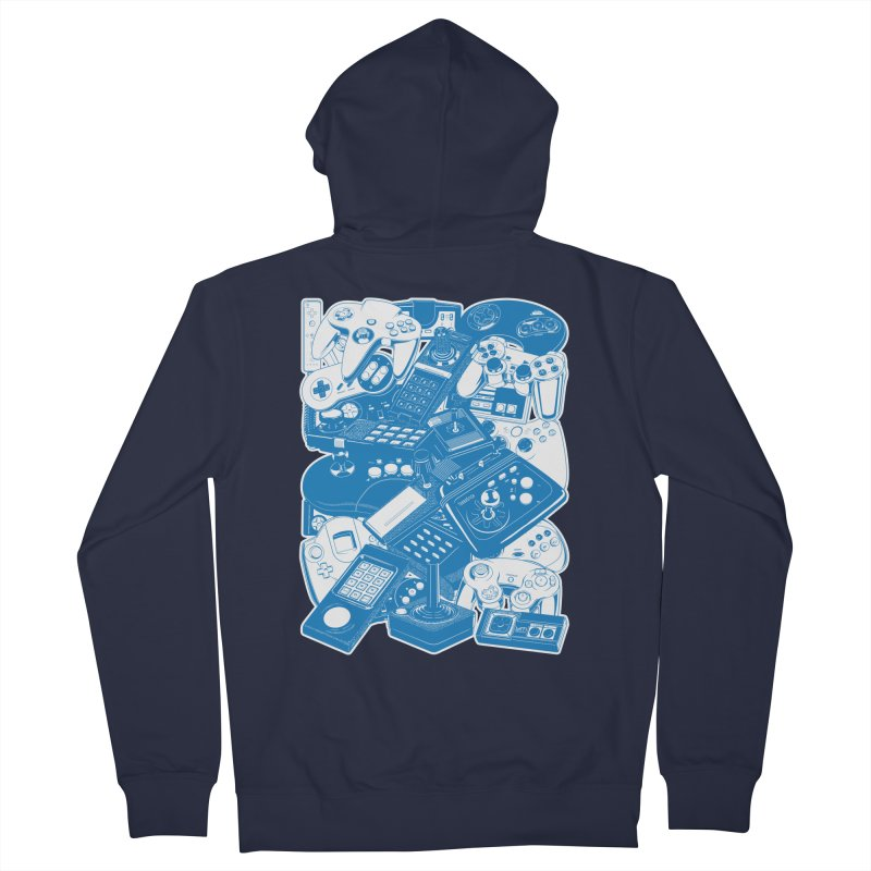Joysticks & Controllers (blue) Men's Zip-Up Hoody by ym graphix's Artist Shop