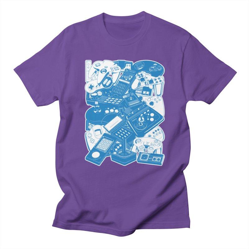 Joysticks & Controllers (blue) Men's T-Shirt by ym graphix's Artist Shop