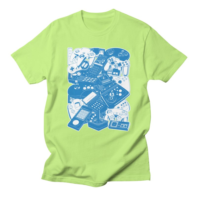 Joysticks & Controllers (blue) Women's Unisex T-Shirt by ym graphix's Artist Shop