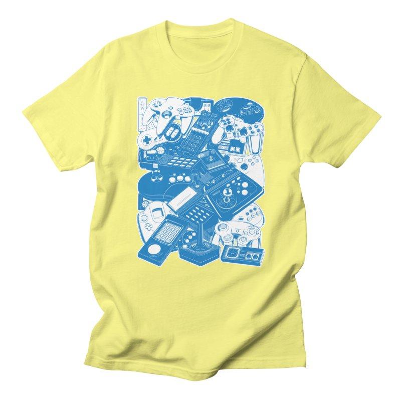 Joysticks & Controllers (blue) Women's Unisex T-Shirt by ym graphix's Artist Shop