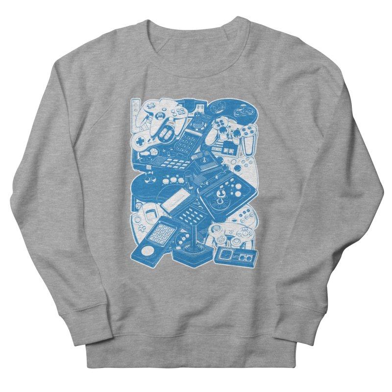 Joysticks & Controllers (blue) Men's Sweatshirt by ym graphix's Artist Shop