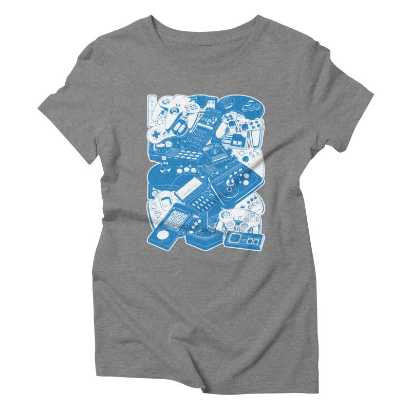 Joysticks & Controllers (blue) Women's Triblend T-Shirt by ym graphix's Artist Shop