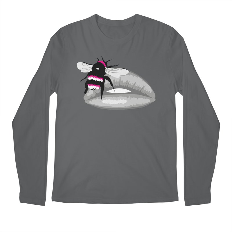 Bee-Stung Lips Men's Regular Longsleeve T-Shirt by ym graphix's Artist Shop